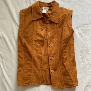 Vintage brown bottom up vest